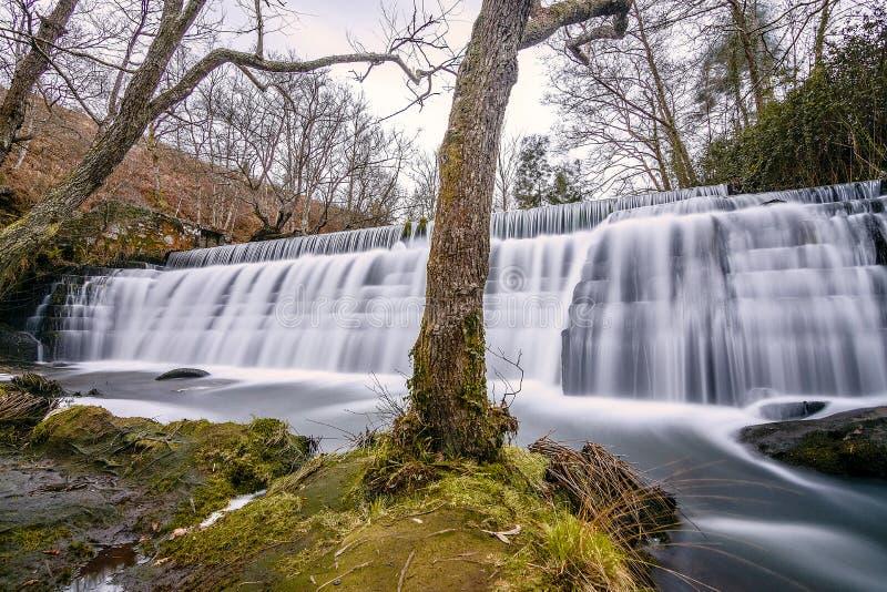 Cascada extraña en Galicia fotografía de archivo