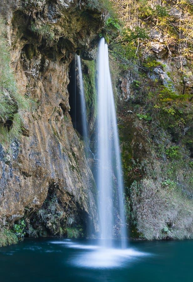 Cascada Galovacki del parque nacional de Plitvice foto de archivo libre de regalías