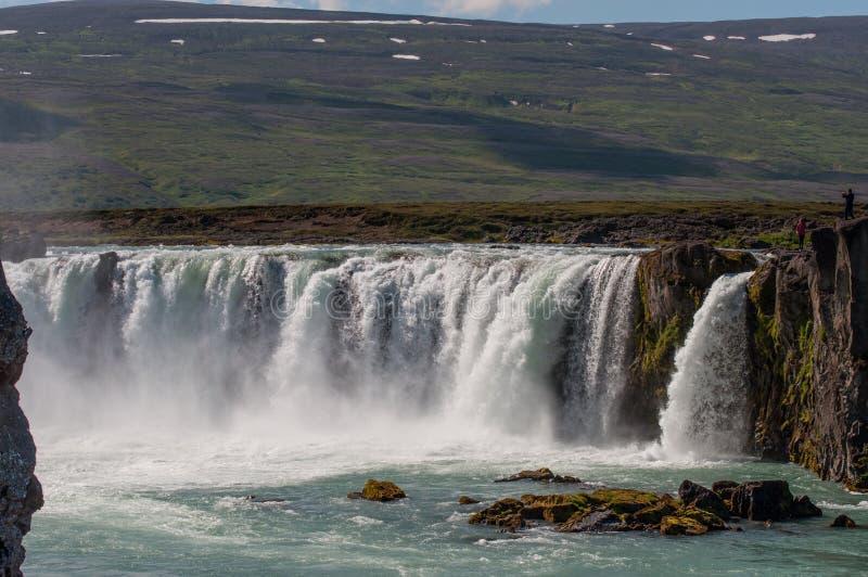 Cascada Godafoss en Islandia del norte imágenes de archivo libres de regalías