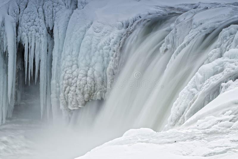 Cascada helada de Godafoss, Islandia fotografía de archivo
