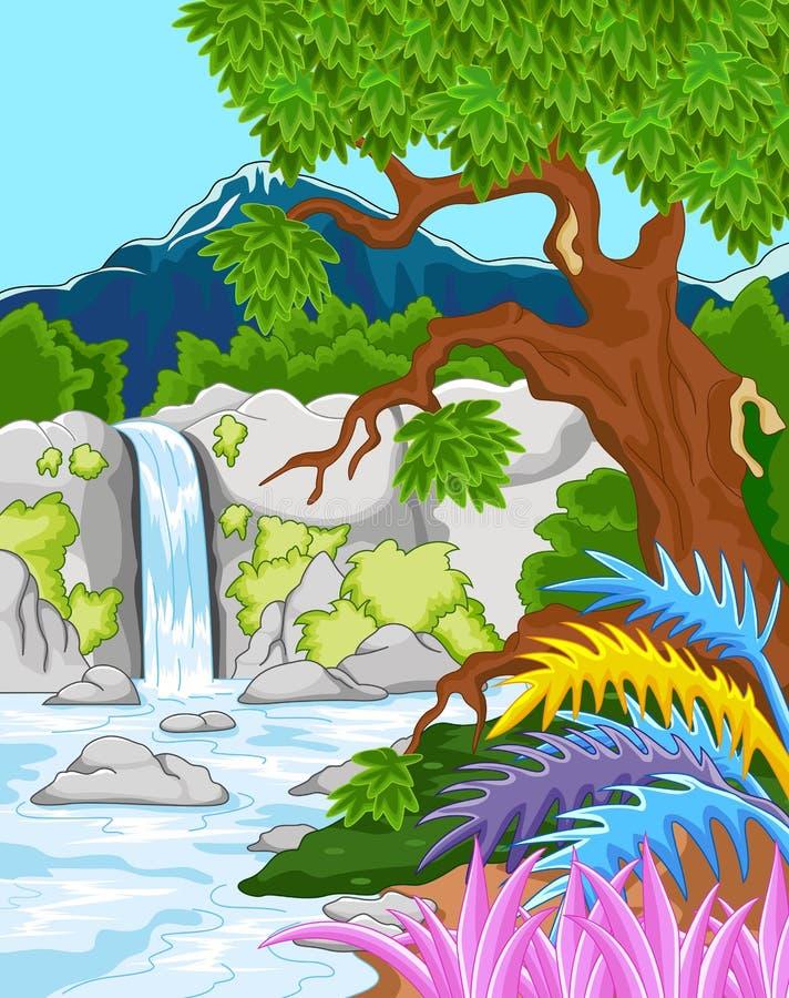Cascada hermosa libre illustration
