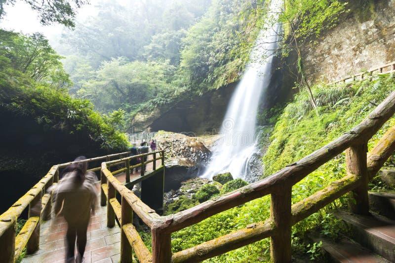 Cascada hermosa en Nantou, Taiwán fotos de archivo libres de regalías