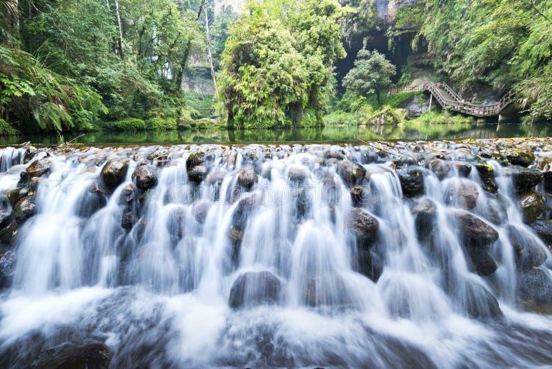 Cascada hermosa en Taiwán fotografía de archivo libre de regalías