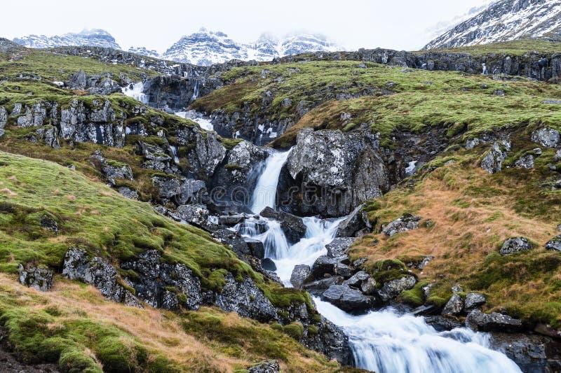 Cascada islandesa fotos de archivo