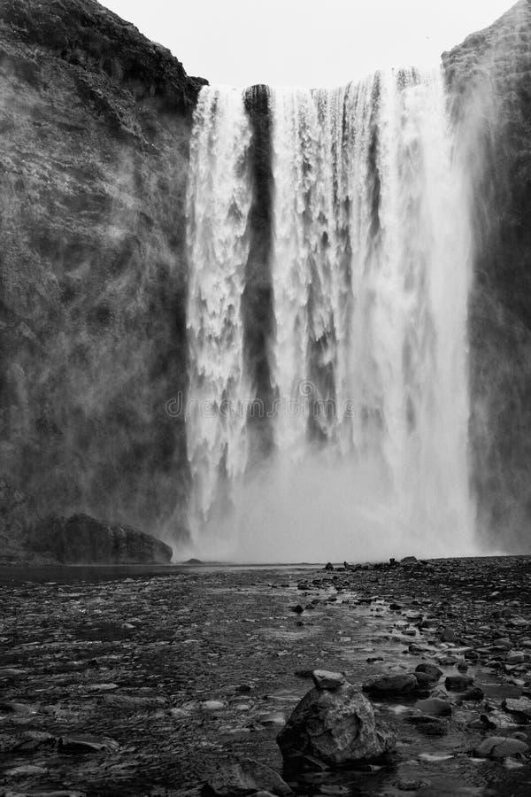 Cascada Islandia de Skogafoss foto de archivo libre de regalías