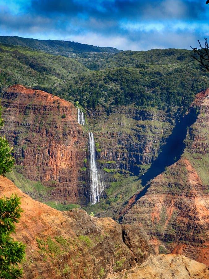 Cascada Kauai Hawaii imagen de archivo