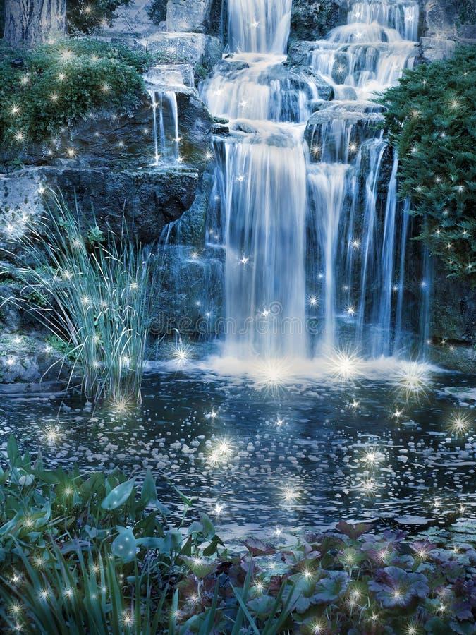 Cascada mágica imagen de archivo