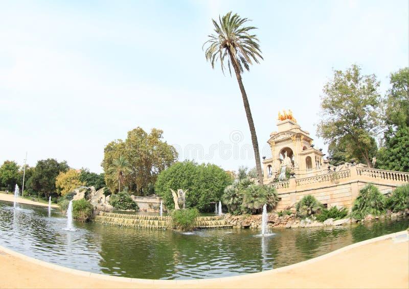 Cascada Monumentaal in Barcelona stock fotografie