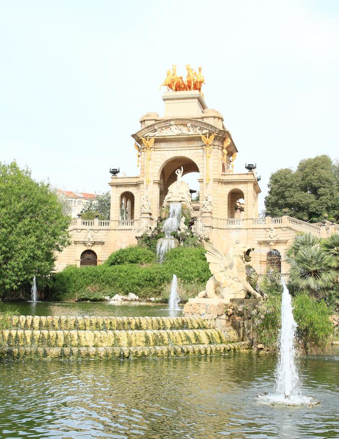 Cascada Monumentaal in Barcelona stock foto