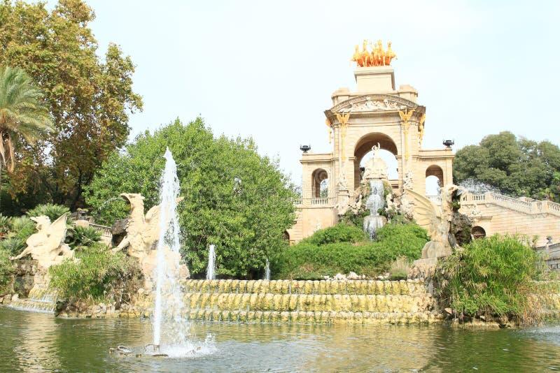 Cascada Monumentaal in Barcelona stock afbeeldingen