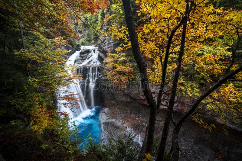 Cascada Ordesa Aragon - cascade photos libres de droits