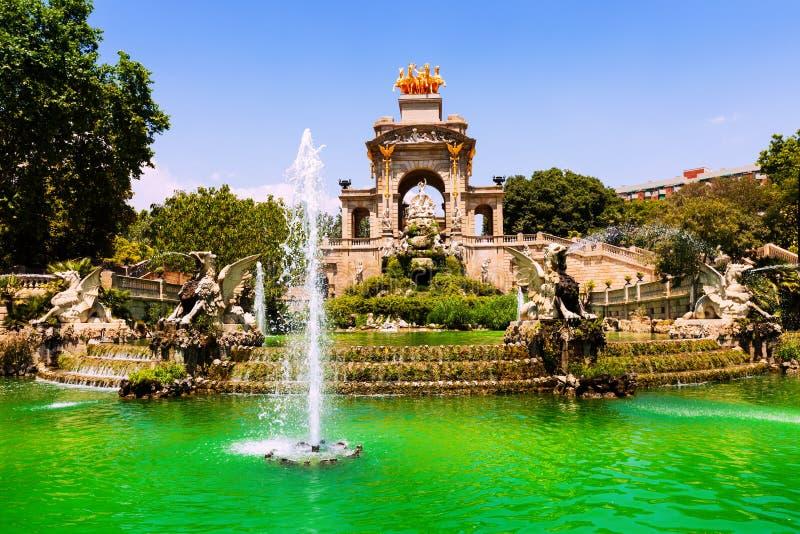 Cascada at Parc de la Ciutadella in Barcelona. Catalonia royalty free stock photos