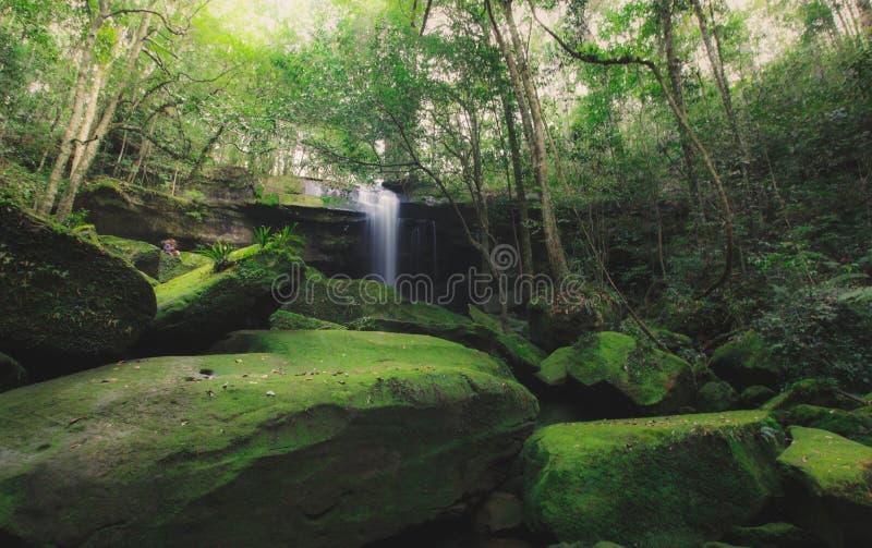 Cascada Sunlit foto de archivo