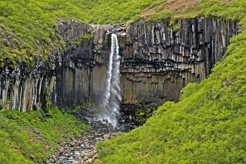 Cascada Svartifoss fotografía de archivo libre de regalías