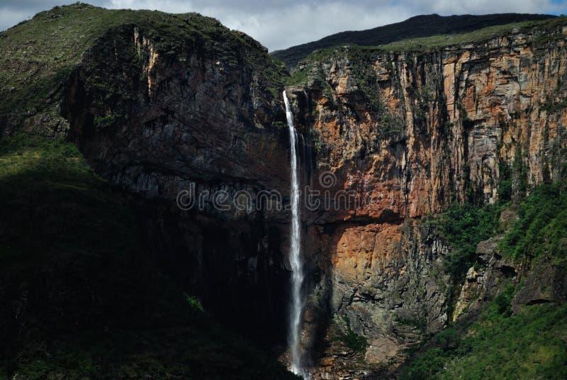 Cascada Tabuleiro del Brasil imagen de archivo libre de regalías