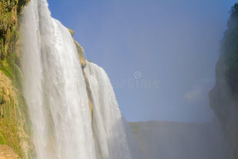 Cascada Tamul - Waterfall at Tamul royalty free stock image