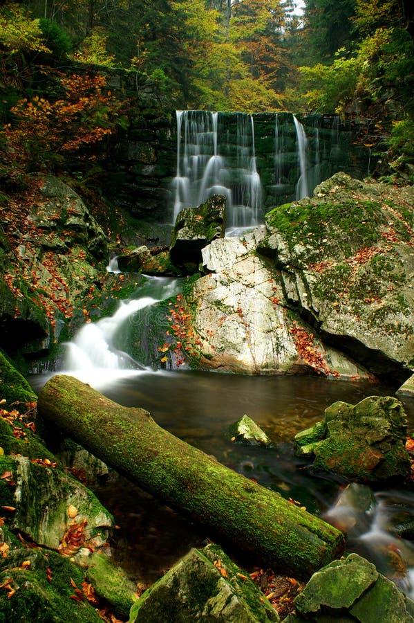 Cascada y otoño imagen de archivo libre de regalías
