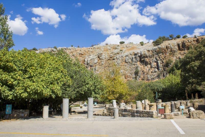 Cascada y parque de Banias foto de archivo libre de regalías