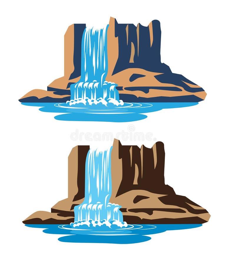 Cascadas ilustración del vector