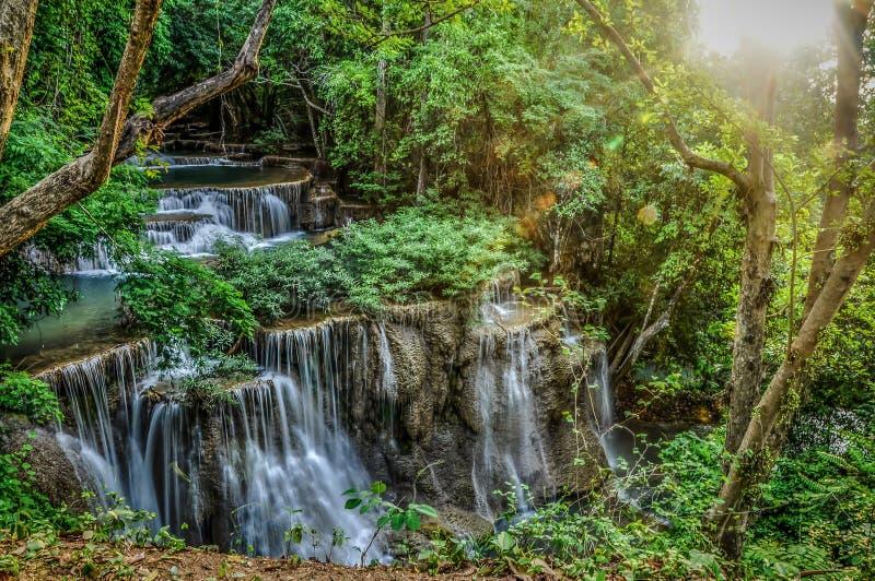 Cascadas, agua del verde esmeralda fotos de archivo libres de regalías