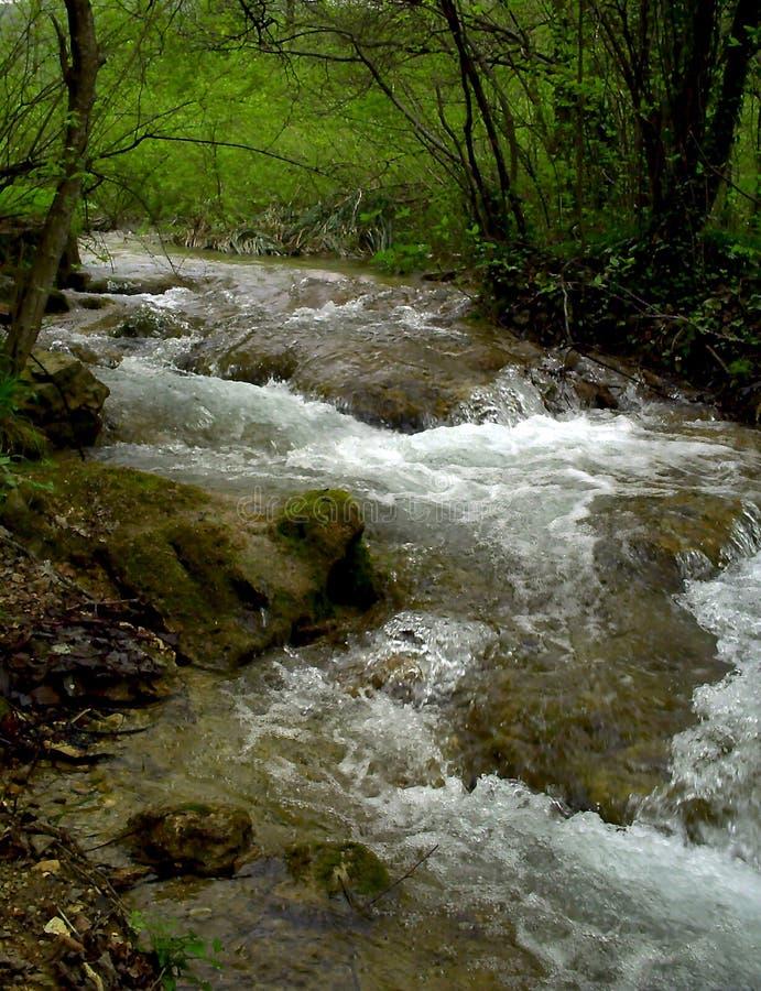 Cascadas Croacia, parque nacional Croacia del krka Cascadas y lago en el parque nacional de Plitvice foto de archivo