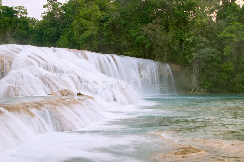 Cascadas de Agua Azul waterfall stock image