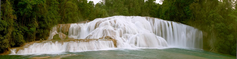 Cascadas de Agua Azul waterfall royalty free stock photo