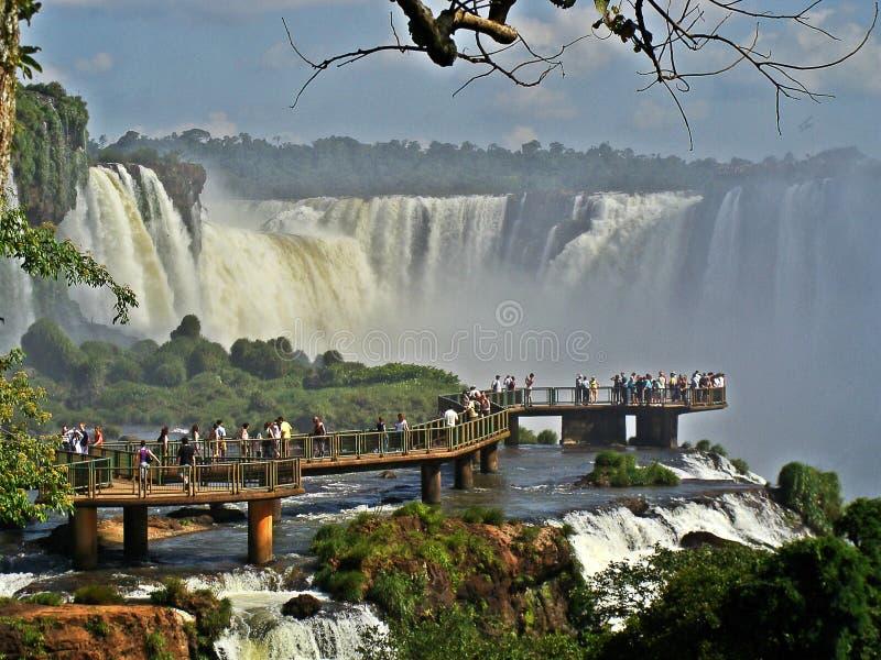 Cascadas de Iguazu en la Argentina imagenes de archivo