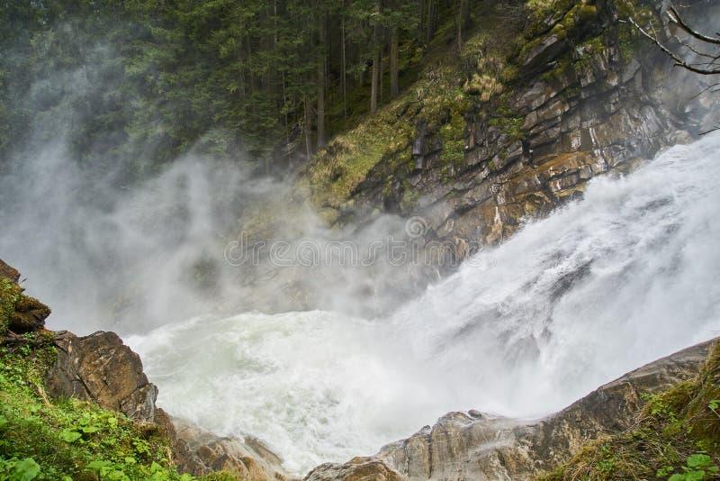 Cascadas de Krimml - vista famosa en Austria imagen de archivo libre de regalías