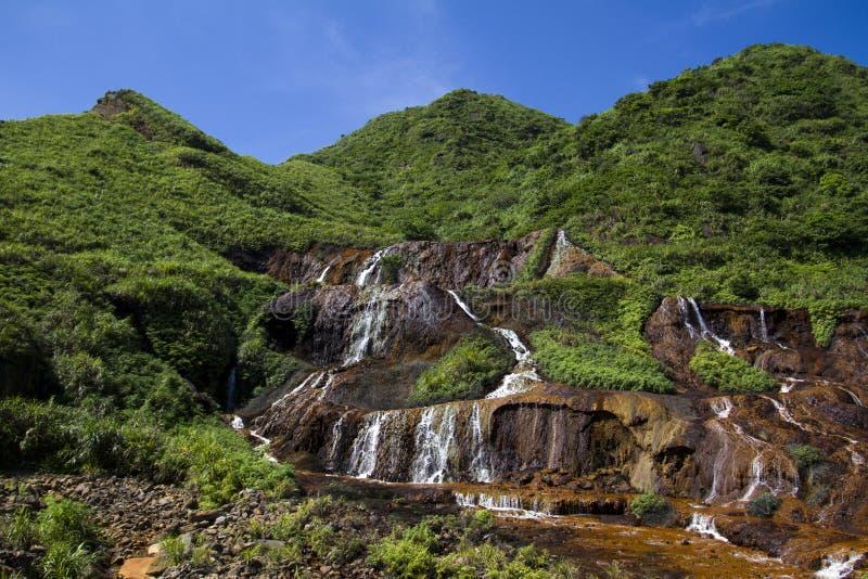 Cascadas de la mina de oro de Taiwán imagen de archivo libre de regalías
