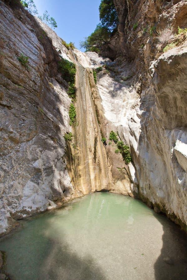 Cascadas de Ronies, Lefkada fotos de archivo libres de regalías