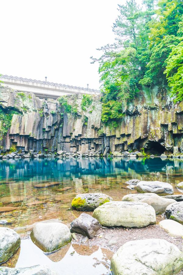 cascadas del cheonjeyeon en Jeju Isaland imagenes de archivo