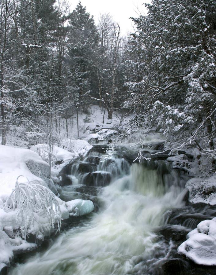 Cascadas del invierno imagenes de archivo