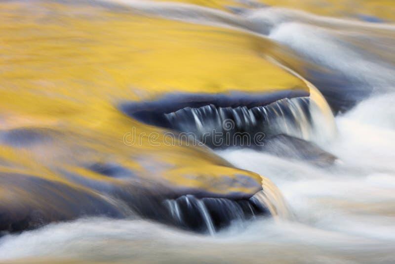 Cascadas del río de la isla de Presque fotografía de archivo libre de regalías