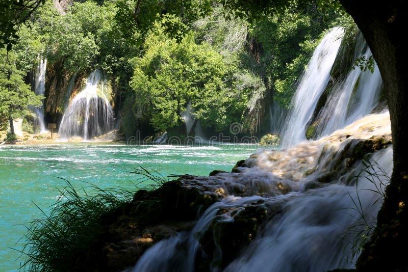 Cascadas en el parque nacional de Krka, Croatia fotos de archivo