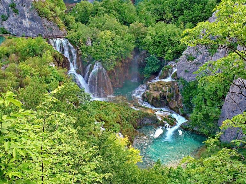 Cascadas en el parque nacional de Plitvice, Croacia foto de archivo libre de regalías