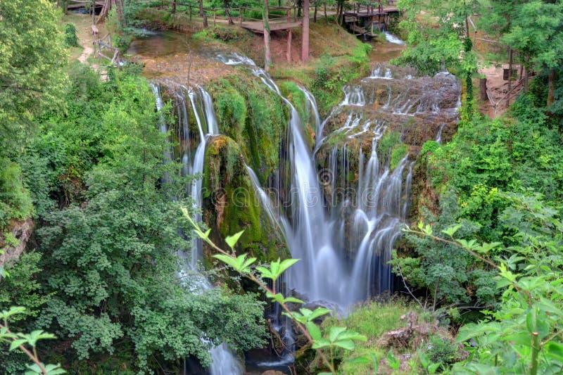 Cascadas en Rastoke, Croacia fotografía de archivo