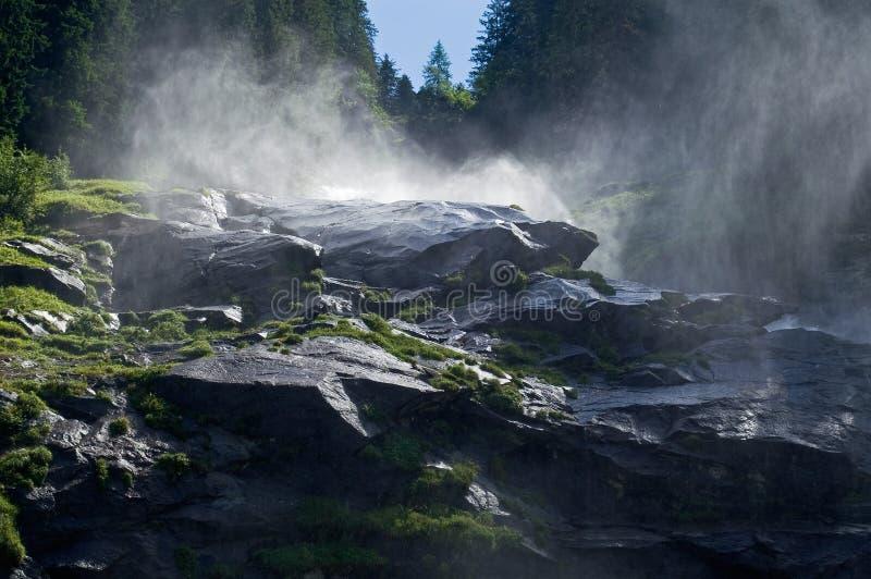 Cascadas Krimml en Austria foto de archivo libre de regalías