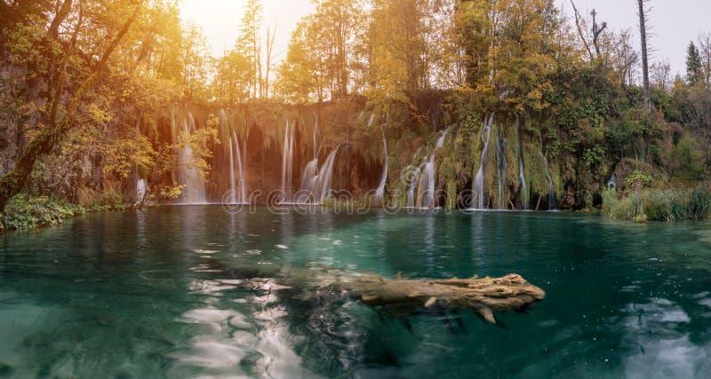 Cascadas y lago, parque nacional de Plitvice Croacia, Europa fotos de archivo