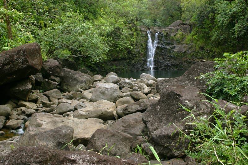 Cascade à écriture ligne par ligne #2 d'Hawaï photos stock