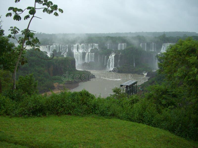 Cascade à écriture Ligne Par Ligne D Iguazu En Argentine Photos stock