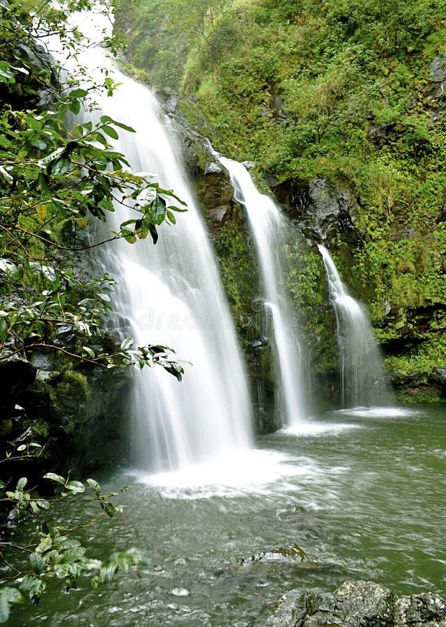 cascade à écriture ligne par ligne de Maui images libres de droits