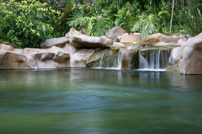 Cascade à écriture ligne par ligne - jardins botaniques, Singapour photo stock
