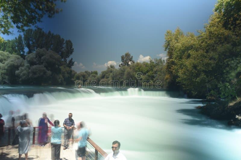 Cascade à écriture ligne par ligne Manavgat chez la Turquie photographie stock libre de droits