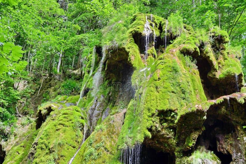 Cascade à la rivière de montagne image libre de droits