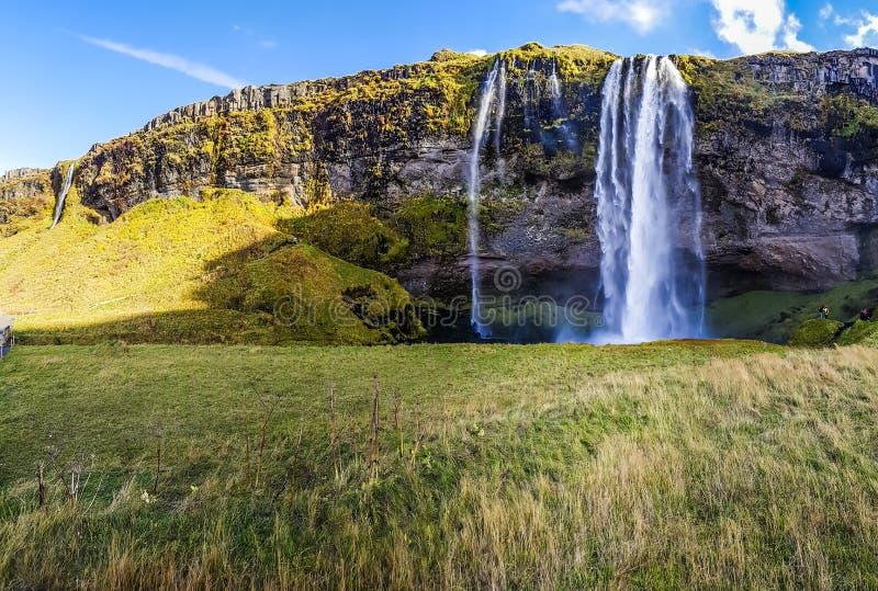 Cascade étonnante en Islande - Seljalandsfoss image libre de droits