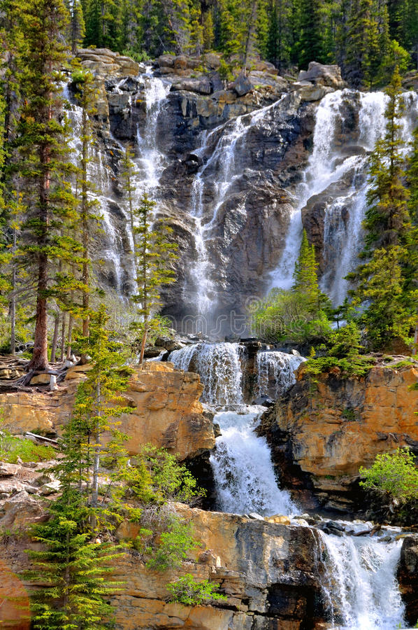 Cascade. In Jasper National Park stock photo