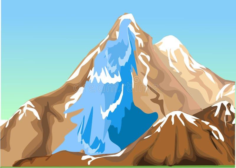 Cascade illustration libre de droits