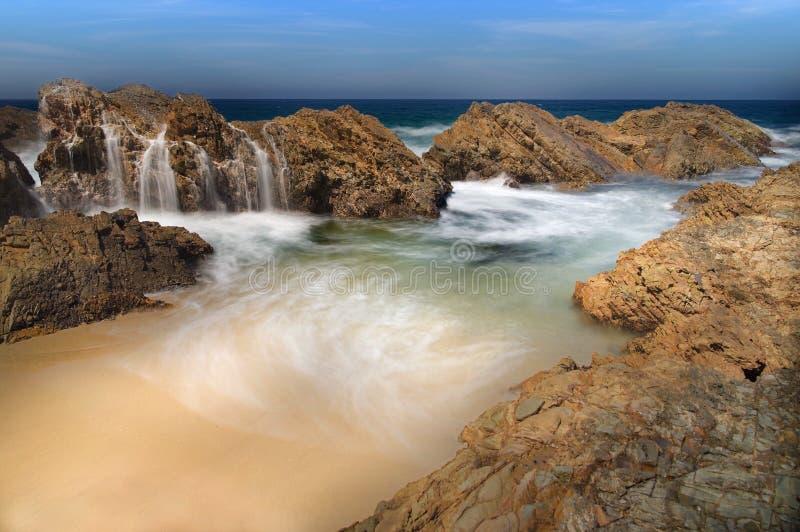 Cascade côtière au Burgess Beach Australie photographie stock