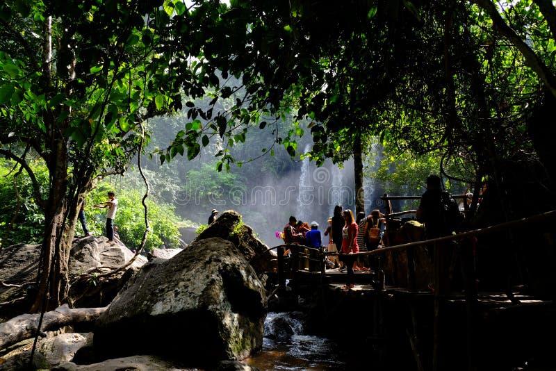 Cascade, Cambodge image stock